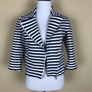 Forever 21 Striped Cropped Jacket